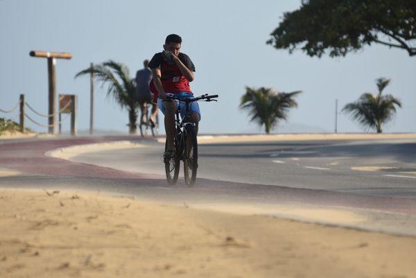 Ventos fortes em Vila Velha. Crédito: Vitor Jubini