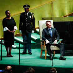Presidente da República, Jair Bolsonaro, discursa durante a abertura do Debate Geral da Assembleia Geral das Nações Unidas (AGNU)