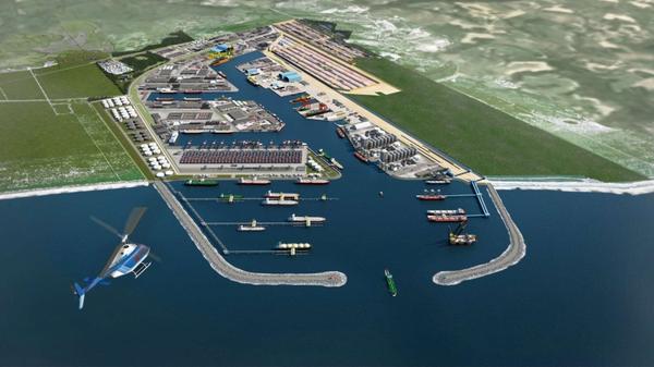 Porto Central, em Presidente Kennedy, pode abrigar indústrias de olho no gás. Crédito: Divulgação