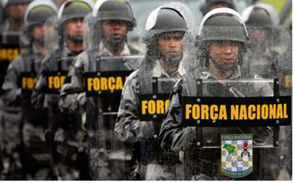 Homens da Força Nacional. Crédito: Adriana Rios