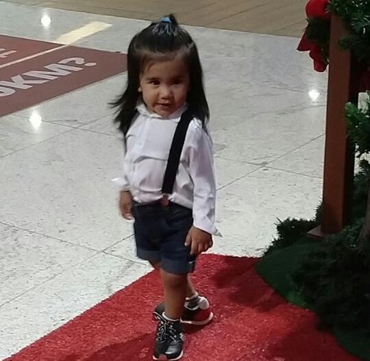 Enzo Vilela, 3 anos - bebê pandinha. Crédito: Arquivo pessoal