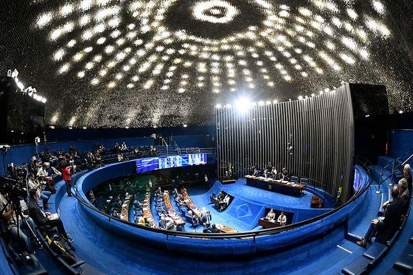 Plenário do Senado Federal durante sessão nesta terça-feira (1º) . Crédito: Marcos Oliveira/Agência Senado