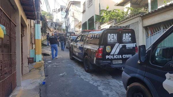 Polícia Civil realiza operação no Bairro da Penha, em Vitória. Crédito: Caíque Verli