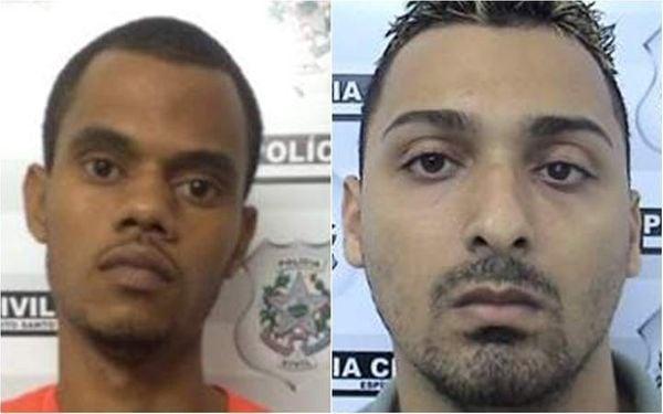 Vaninho (esquerda) e Marujo são os mais procurados do PCV. Crédito: Divulgação/PCES