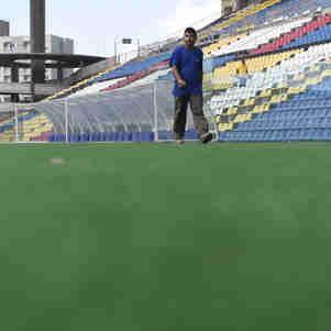Data: 03/02/2019 - ES - Cariacica - Reforma do estádio Kléber Andrade para o mundial sub-17 - Editoria: Esportes - Foto: Vitor Jubini - GZ