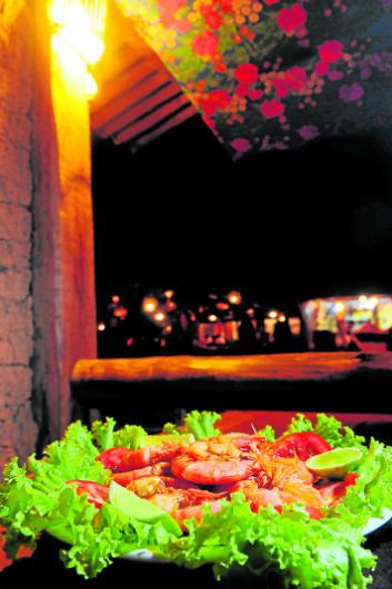 Prato do Restaurante do Cizinho, em Itaúnas. Crédito: Ricardo Medeiros