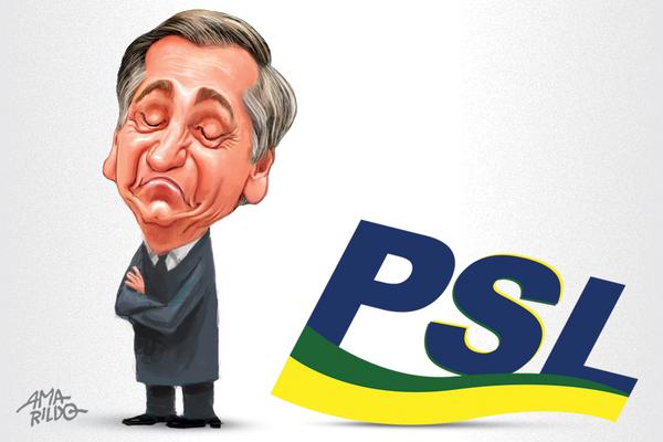 Bolsonaro e PSL nunca tiveram ligação orgânica, mas ditada tão somente pela conveniência eleitoral. Crédito: Amarildo