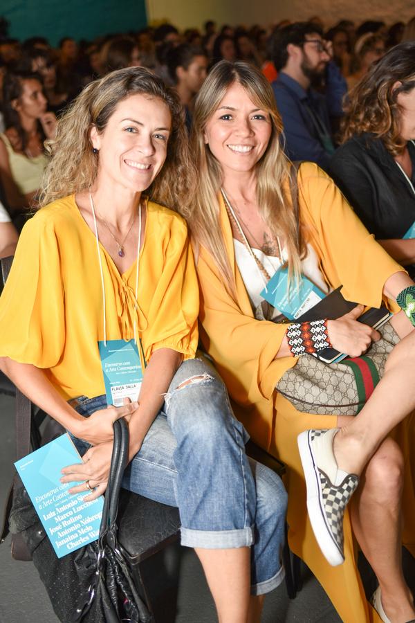 Queridas de RR. Flávia Dalla e Maria Sanz: em evento no Museu Vale. . Crédito: Mônica Zorzanelli