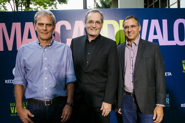 Lançamento do prêmio Marcas de Valor  na Rede Gazeta. Marcello Moraes, o publicitário  Walter Longo e Café Lindenberg:  o engajamento das marcas em pauta. Crédito: Adessandro Reis