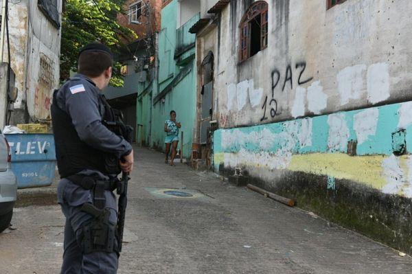Policiamento reforçado no Bairro da Penha, em Vitória