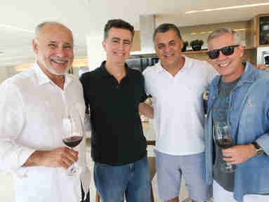 Alexandre Vasconcellos, Geraldo Cola, Eduardo Caliman e André Hees