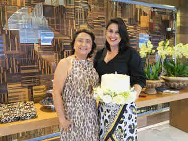 As aniversariantes Nazaré Neves e Renata Rasseli