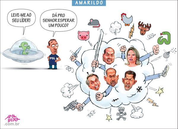 Confira a charge do Amarildo de 22/10/2019. Crédito: Amarildo