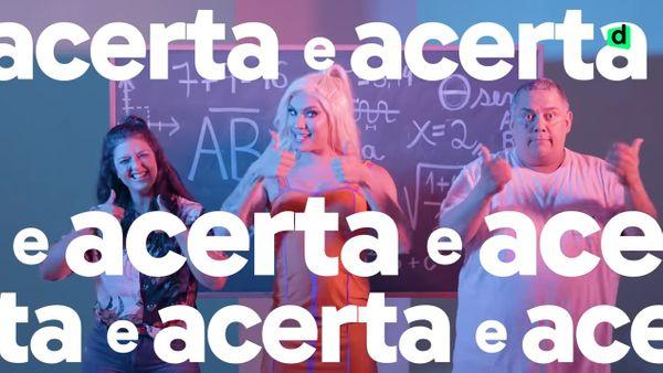 Drag, professora e cantora fazem paródias para estudar para Enem. Crédito: Reprodução/YouTube Descomplica