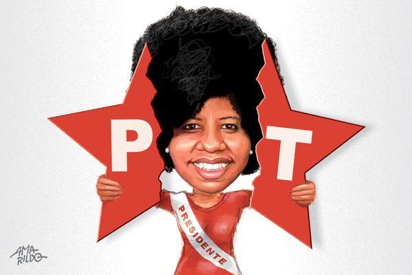 Jackeline Rocha assume a presidência estadual do PT com a missão de unificar as correntes internas de um partido muito dividido . Crédito: Amarildo