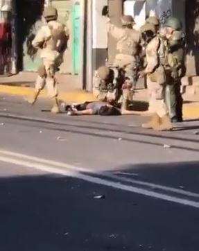 Protestos no Chile. Crédito: Reprodução/Twitter