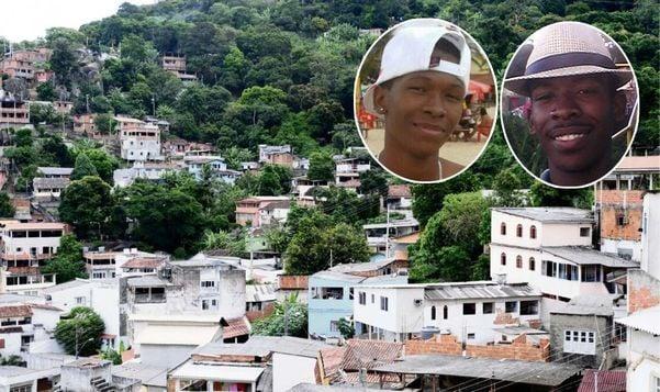 Ruan Reis (à esquerda) e Damião  Marcos Reis (à direita): irmãos mortos  com mais de 20 tiros cada no Morro da Piedade. Crédito: Reprodução Facebook