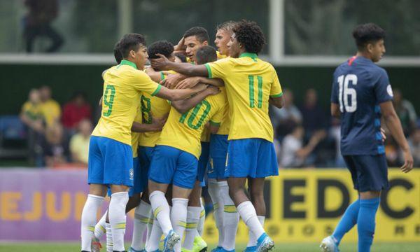 Brasil estreiou com goleada sobre o Canadá. Crédito: Thais Magalhães   CBF