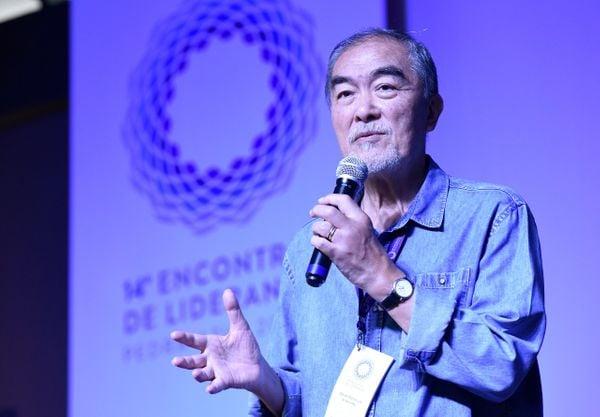 Oscar Motomura, CEO Amana Key, no Encontro de Lideranças. Crédito: Carlos Alberto Silva