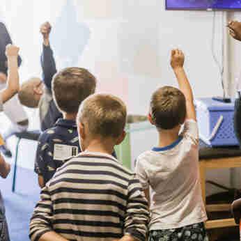 Sala de aula de alunos da educação infantil