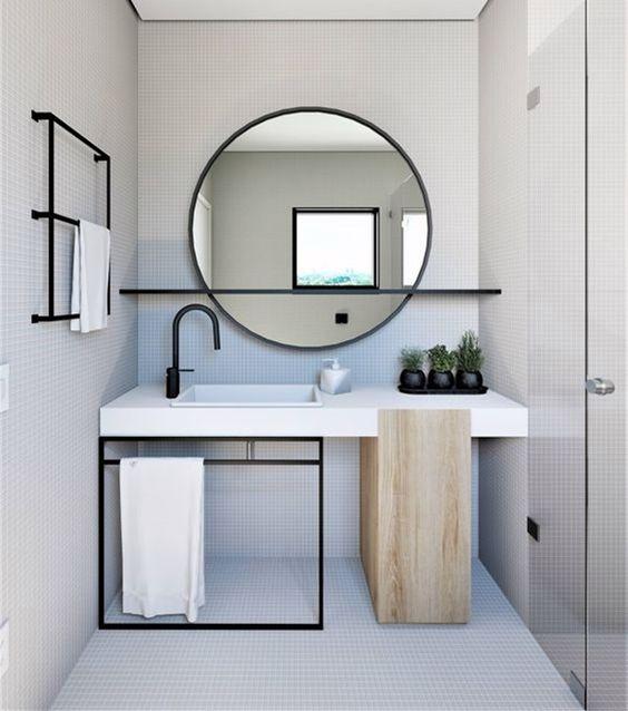 Apostarem espelhos grande é um solução. Crédito: Pinterest