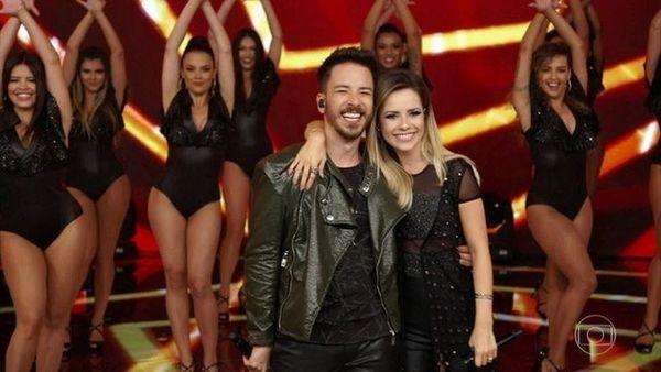 04/11/2019 - Sandy e Junior em última apresentação juntos na TV, no Domingão do Faustão. Crédito: TV Globo