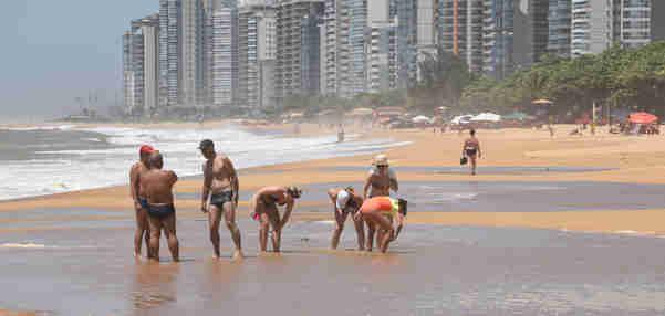 Data: 04/11/2019 - ES - Vila Velha - Praia de Itaparica - Editoria: Cidades Foto: Ricardo Medeiros - GZ