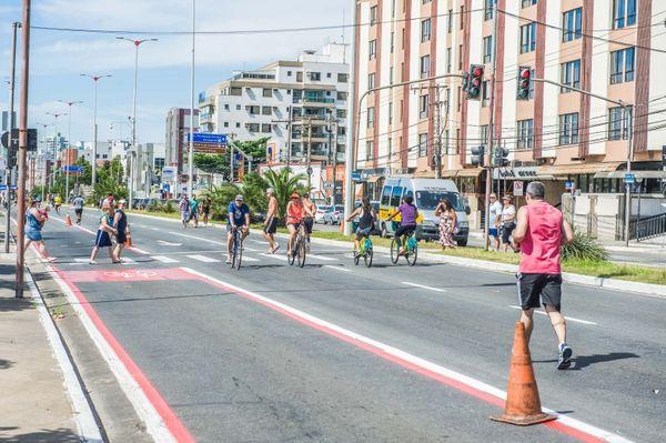 Rua de Lazer na orla de Camburi está suspensa até o fim de março. Crédito: Prefeitura de Vitória