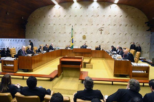 Ministros reunidos em sessão do Supremo Tribunal Federal. Crédito: Carlos Alves Moura/STF