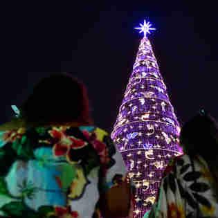 Data: 08/11/2019 - ES - Serra - Árvore de Natal no Parque d Cidade, na Serra - Editoria: Cidades - Foto: Fernando Madeira - GZ