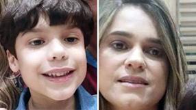 Fernanda e Lourenço Caus, mãe e filho soterrados em Santa Leopoldina. Crédito: Arquivo pessoal