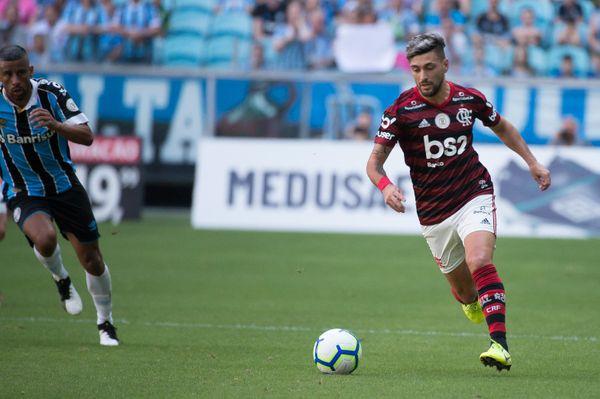 Arrascaeta foi escolhido o craque do jogo neste domingo. Crédito: Alexandre Vidal/Flamengo