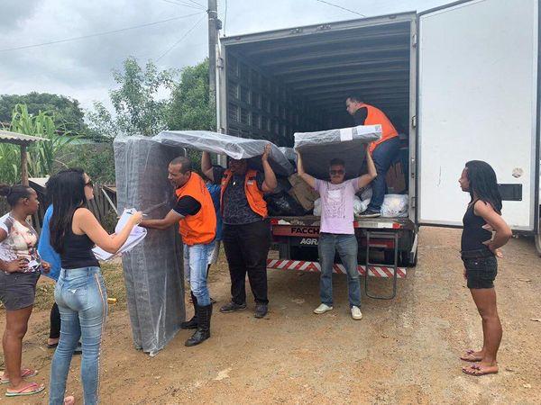 Prefeitura entrega colchões e cobertores em abrigos de Cariacica. Crédito: Prefeitura de Cariacica/Divulgação