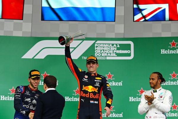 Verstappen (NED) venceu o Grande Prêmio do Brasil de Fórmula 1, no Autódromo de Interlagos. Crédito: HEULER ANDREY