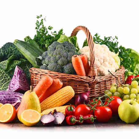 Alimentos saudáveis: legumes, verduras e frutas