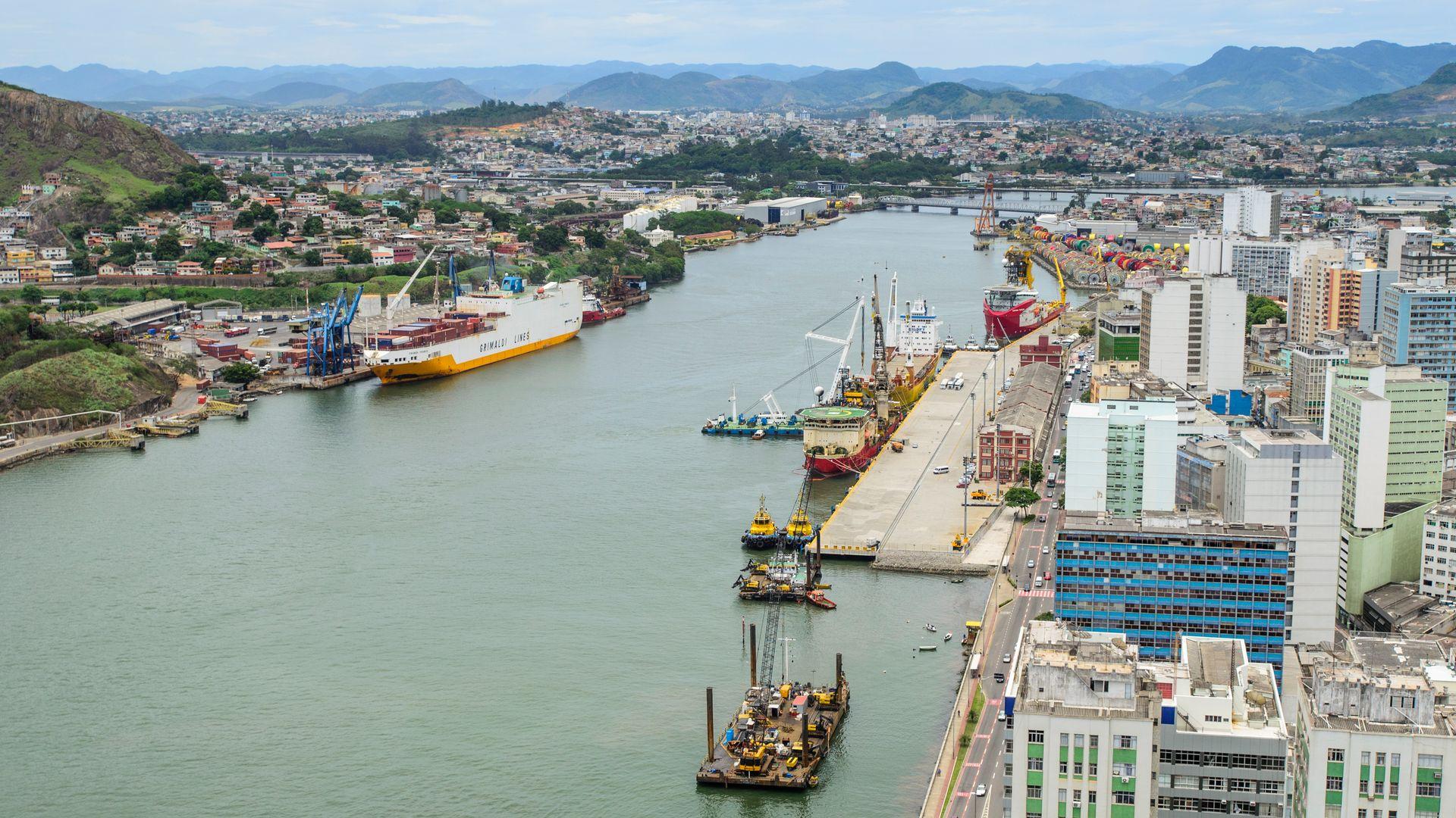 Foto aérea do Porto de Vitória: desestatização da Codesa é uma das oportunidades para acelerar a economia do ES