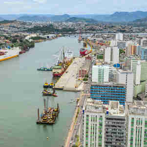Foto aérea do Porto de Vitória