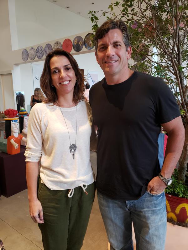 Helia Neves e Fabrício Fontana: em noite de arte. Crédito: Mônica Zorzanelli