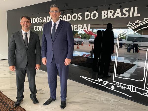 Eduardo Sarlo e José Carlos Rizk Filho: encontro em Brasília. Crédito: Divulgação