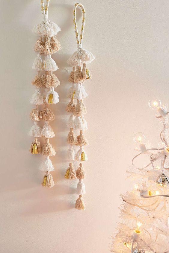 Natal Boho: confira as inspirações do Pinterest para decorar sua casa neste estilo. Crédito: Pinterest