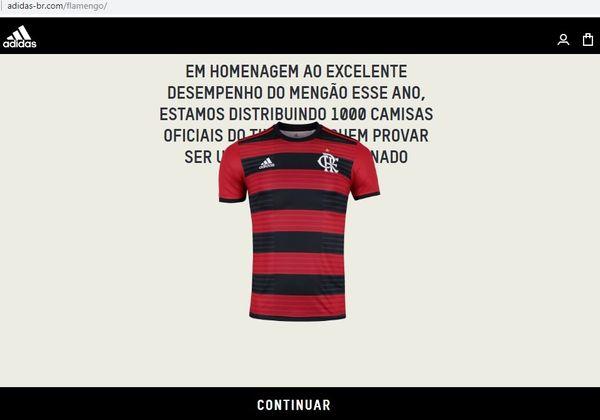Na internet: Golpe promete distribuição de mil camisas do