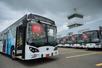 Primeira frota de ônibus 100% elétricos BYD no Equador. A empresa será a fabricante do ônibus que circulará no Estado. Crédito: Divulgação/BYD