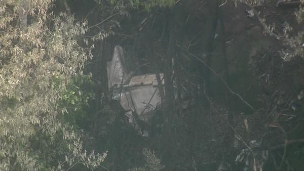 Aeronave cai na Serra da Cantareira, em São Paulo. Crédito: Reprodução | TV Globo