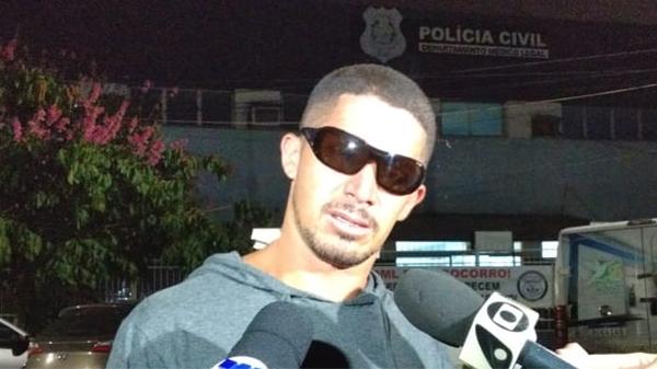 Marcelo Alves, tio de Breno Soares, que morreu afogado durante mergulho em Guarapari. Crédito: Esthefany Mesquita