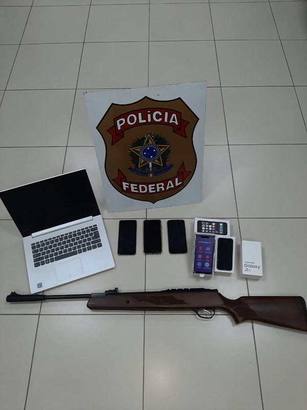 Material desviado dos Correios para casa de ex-funcionário. Crédito: Divulgação/PFES