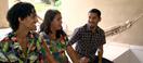 Andréia Santos e os filhos Bruno e Breno. Crédito: TV Gazeta