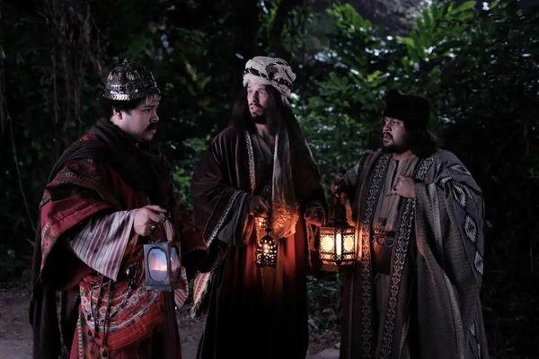 Reis Magos do especial de Natal do Porta dos Fundos. Crédito: Youtube/Porta dos Fundos
