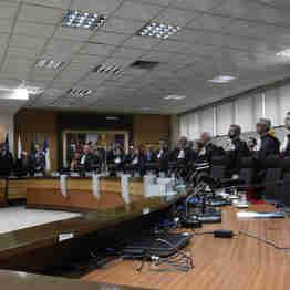 A ex-primeira-dama Maria Helena Ferreira durante a posse do desembargador Ronaldo de Sousa como presidente do TJES