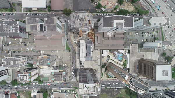 Vista aérea de prédios na Enseada do Suá, Vitória. Crédito: Luciney Araújo