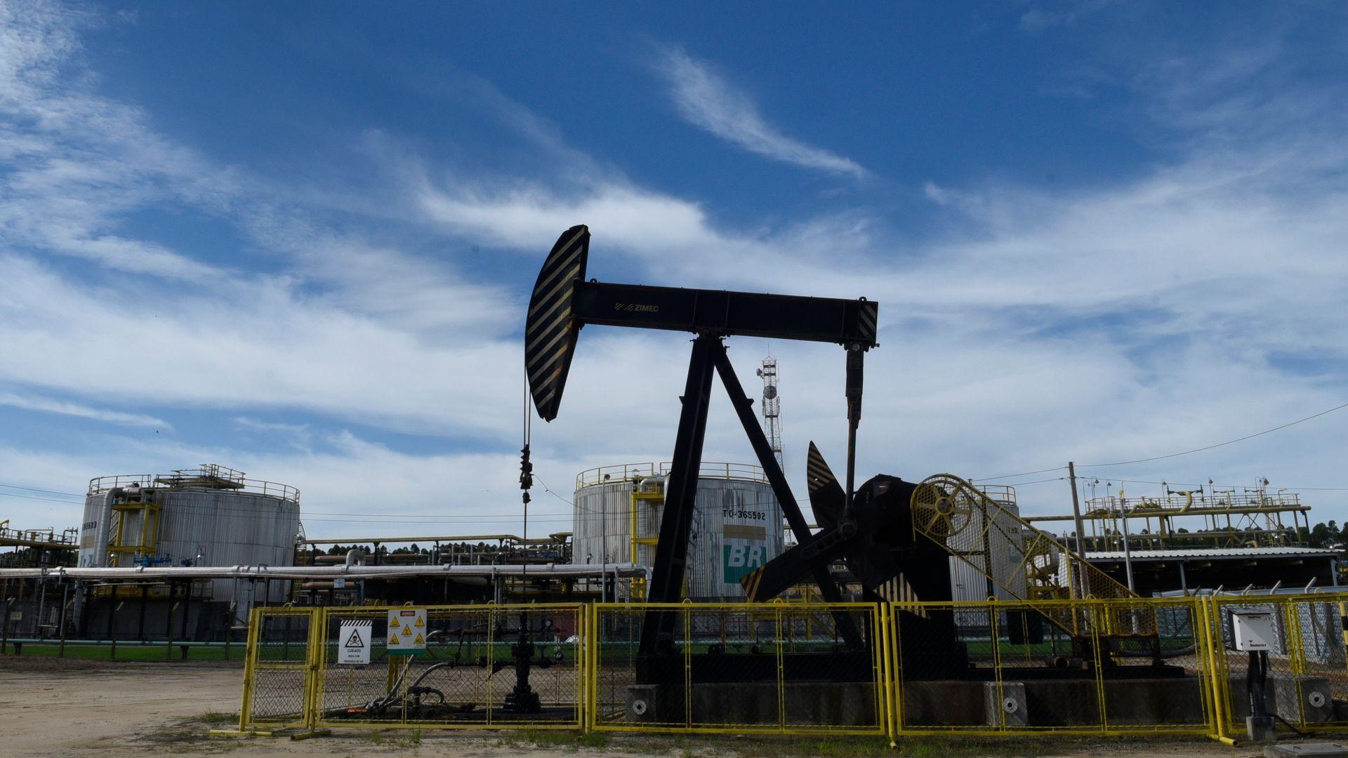 Estação de tratamento de petróleo da Petrobras Fazenda Alegre